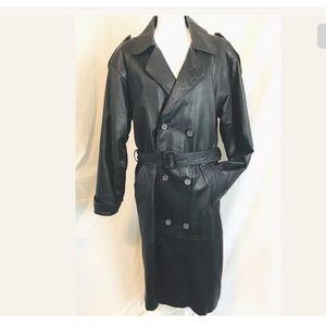 Burk's Bay Women's  Leather Trench Coat
